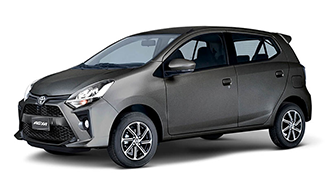 Toyota Agya 2021 color Gris Oscuro Metálico